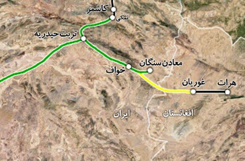 افغانستان از طریق راه آهن ایران به آبهای آزاد وصل میشود