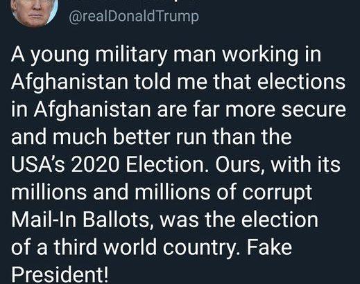 انتخابات در افغانستان بسیار بهتر و امنتر از انتخابات ٢٠٢٠ امریکاست